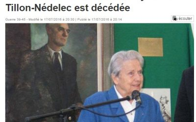 Disparition de Raymonde TILLON